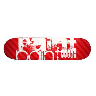 Paint; Scarlet Red Stripes Skateboard Deck