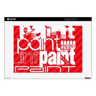 "Paint; Scarlet Red Stripes 15"" Laptop Skin"