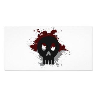 Paint Skull T-shirt Photo Cards