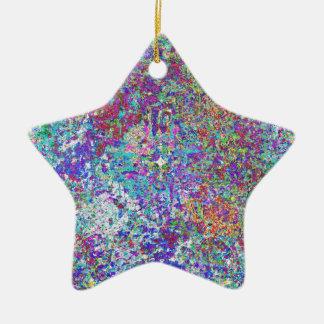 Paint Spatter Ceramic Ornament