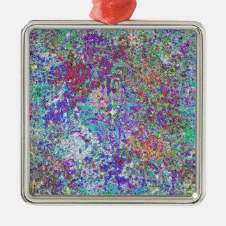 Paint Spatter Metal Ornament