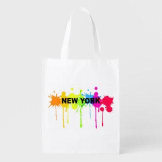 Paint spatter new york bag
