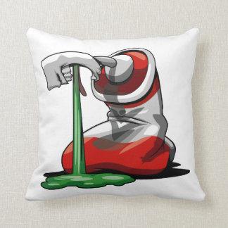 Paint spew pillow