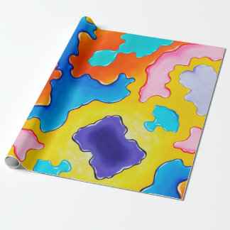 Paint Spill Gift wrap