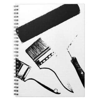 paint spiral notebook