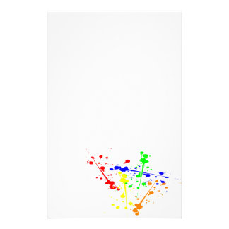 Paint splash abstract art colourful stationery