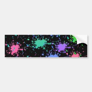 Paint Splash Bumper Sticker