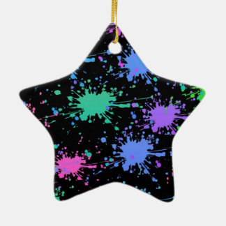 Paint Splash Ceramic Ornament