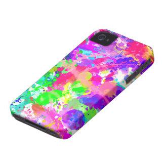 Paint splash colourful iPhone 4 Case-Mate case