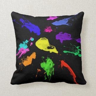 paint Splash cushion Throw Pillow