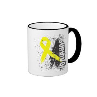Paint Splash Design - Bladder Cancer Survivor Ringer Mug