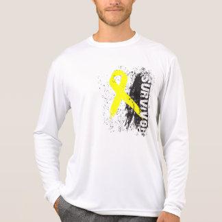 Paint Splash Design - Bladder Cancer Survivor T-Shirt