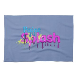 Paint Splash Hand Towel