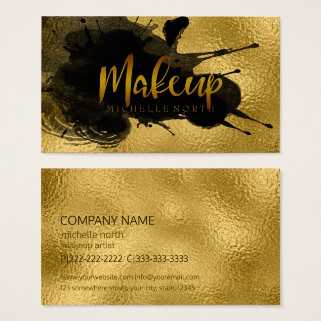 Paint Splash Makeup Gold/Black ID351