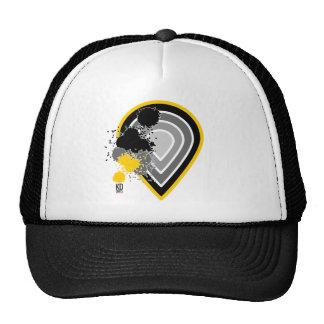 Paint splash teardrop trucker hat