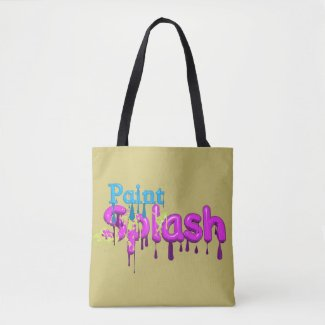 Paint Splash Tote Bag