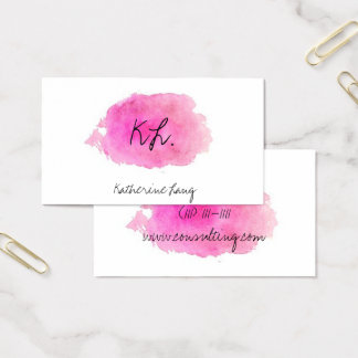 paint splash watercolor trendy business card