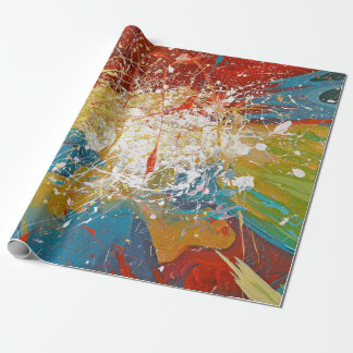 paint splash wrapping paper