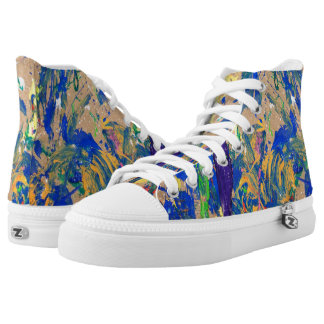 Paint Splashes all Over High-Top Sneakers