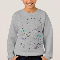 Paint Splashes and Spots Arty Fun Sweatshirt