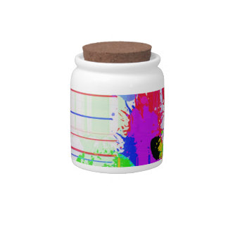 Paint splashes candy jars