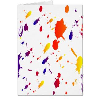 Paint Splashes Card