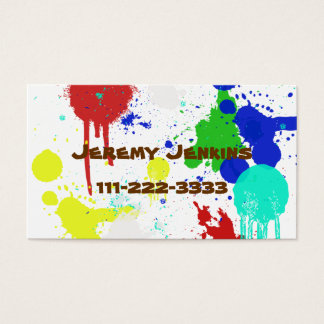 Paint Splashes Children's calling card