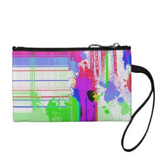 Paint splashes coin purses