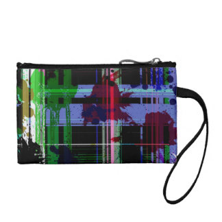 Paint splashes coin wallet