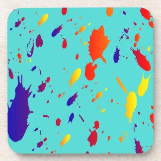 Paint Splashes Cork Coaster