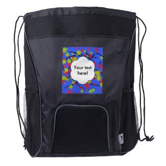 Paint splashes drawstring backpack