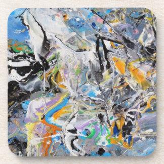Paint Splashes Drink Coaster