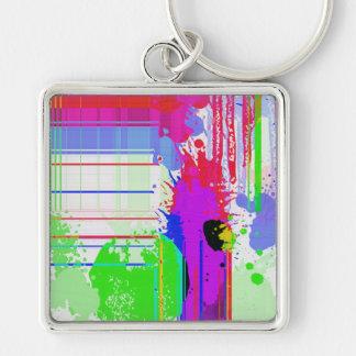 Paint splashes key chain