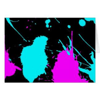Paint Splat- Light Blue/ Light Purple Card
