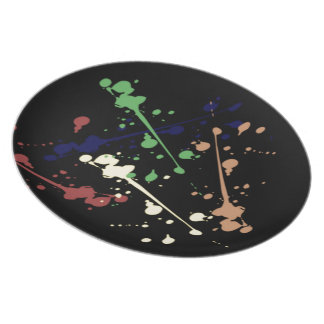 Paint Splat Dinner Plates