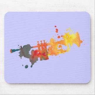 Paint Splat Trumpet Mouse Pad