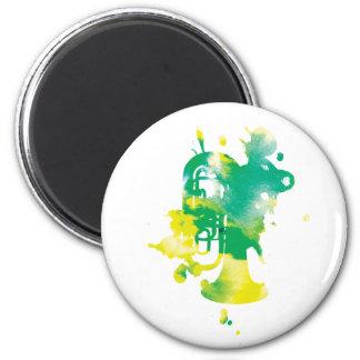 Paint Splat Tuba Magnet