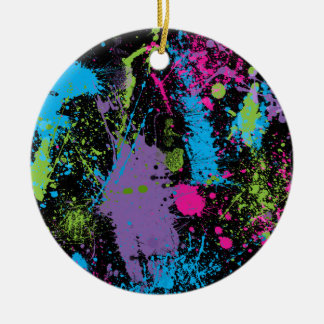 Paint Splater Ceramic Ornament