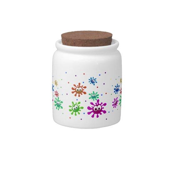 Paint Splats Candy Jar