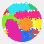 Paint Splats Classic Round Sticker