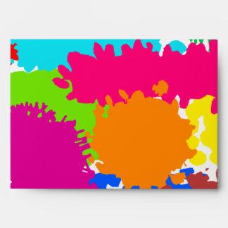 Paint Splats Envelope