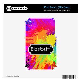 Paint Splats Pattern Monogram MP3 Skin iPod Touch 4G Skins