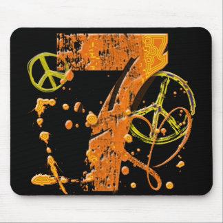 PAINT SPLATTER #7 & PEACE SIGNS MOUSE PAD