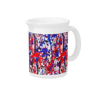Paint Splatter Abstract Art Drink Pitcher