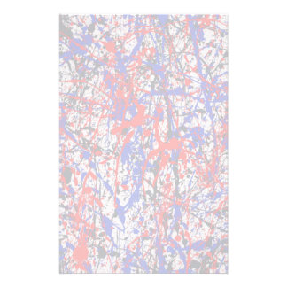 Paint Splatter Abstract Art Stationery