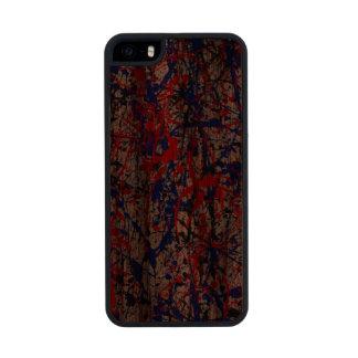 Paint Splatter Abstract Art Wood iPhone SE/5/5s Case