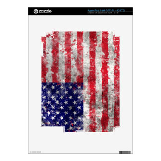 Paint Splatter American Flag iPad 3 Decals