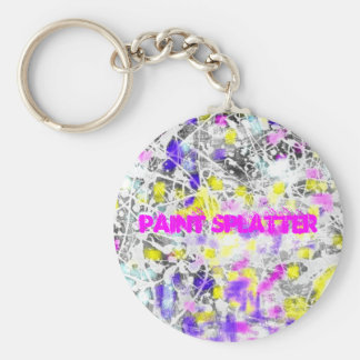 paint splatter and drip art keychain