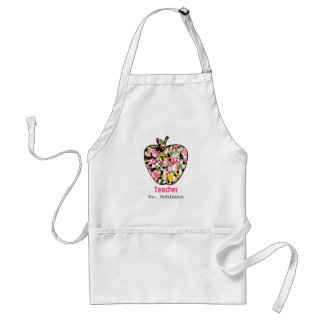 Paint Splatter Apple Teacher Apron