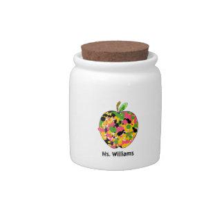 Paint Splatter Apple Teacher Candy Jar